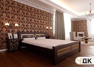 product Еліт ліжко дерев'яне шпоноване купити під замовлення Червоноград Острів