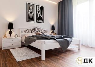 product Італія ліжко дерев'яне кована вставка купити під замовлення Червоноград Острів