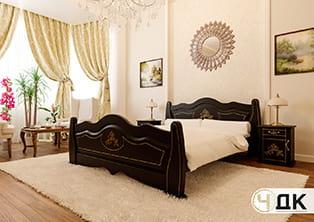 product Мальва ліжко дерев'яне шпоноване купити під замовлення Червоноград Острів