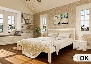 product Модерн ліжко дерев'яне м'яке узголів'я купити під замовлення Червоноград Острів