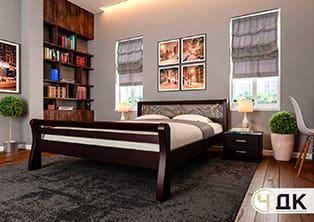 product Ретро ковка високе узніжжя ліжко дерев'яне шпоноване купити під замовлення Червоноград Острів